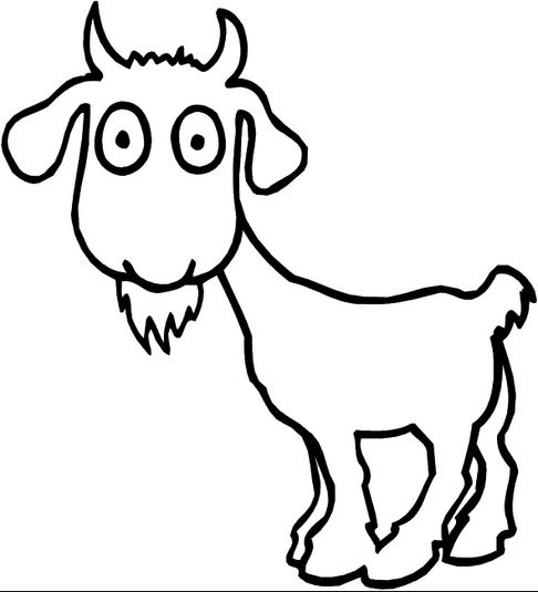 Cartoon Goat Coloring Page coloring page   book for kids. b1d46c4df