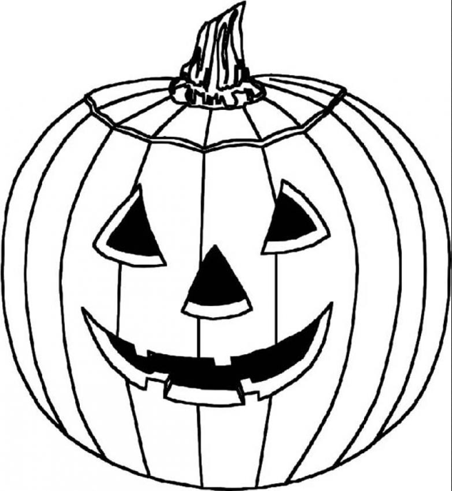 Pumpkin Carving coloring page & book for kids.