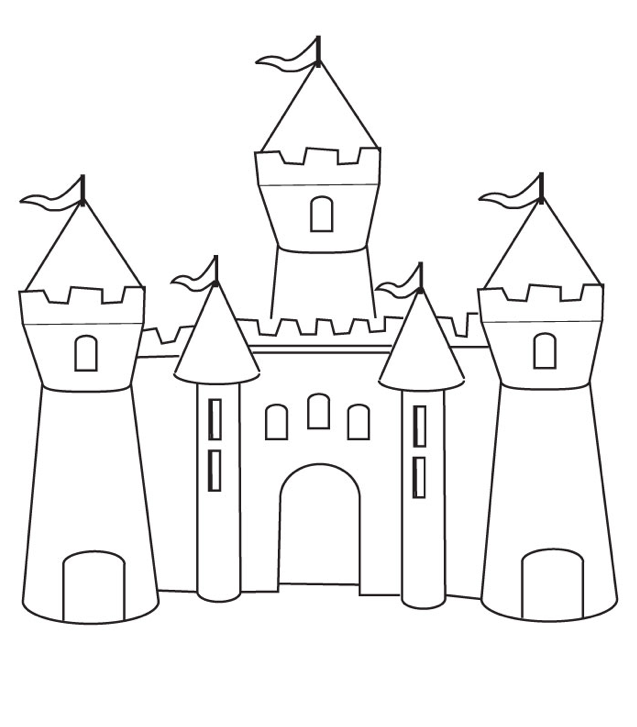 Castle Coloring Page Coloring Page Book For Kids