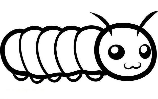 Caterpillar Colouring Page coloring page & book for kids.