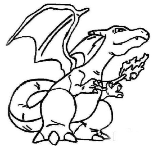 Charizard Coloring Page Coloring Page Book For Kids