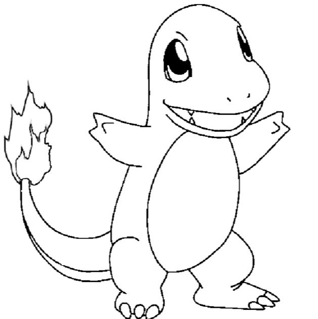 Charmander Coloring Pages coloring page & book for kids.