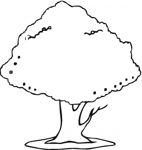 Cherry Tree Coloring Page coloring page book for kids