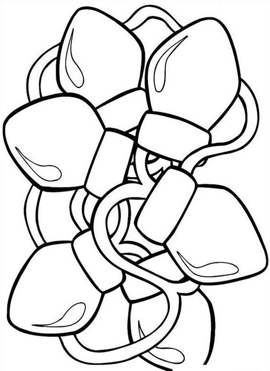 Christmas Lights Coloring Page Coloring Page Book For Kids