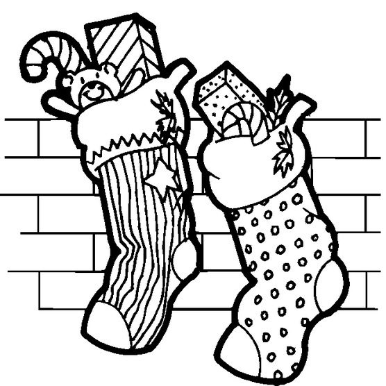 Christmas Stockings Coloring Page & Coloring Book