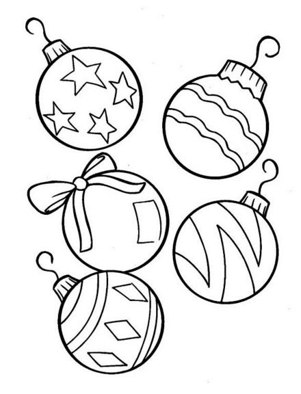Christmas Tree Ornaments Coloring Page - Coloringpagebook.com