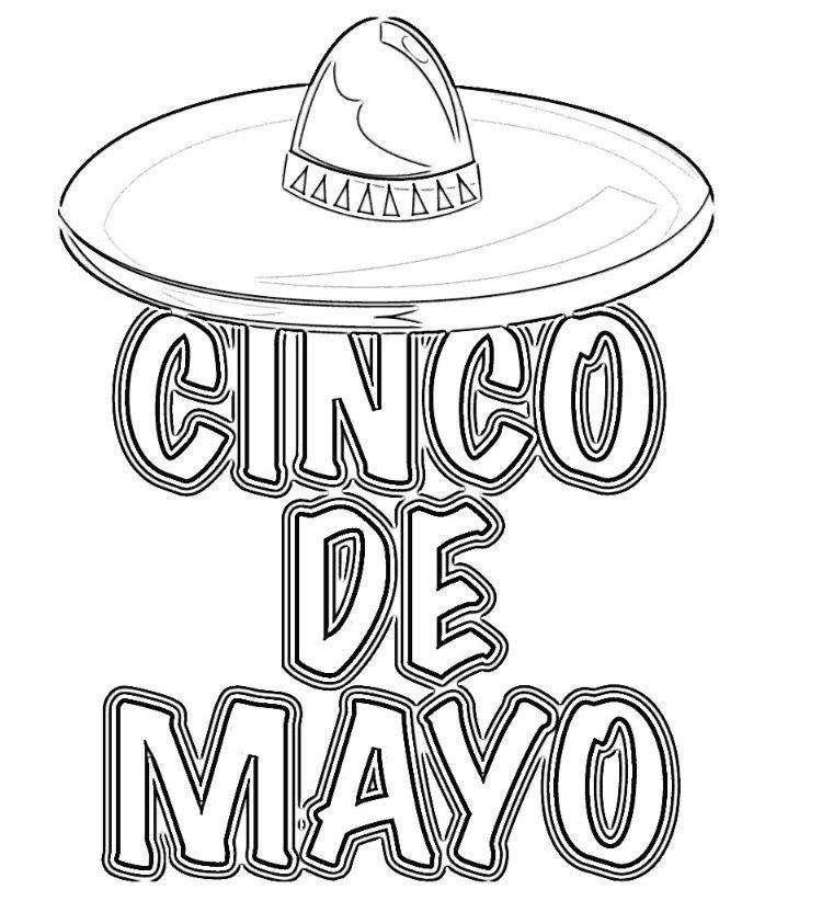 Free Cinco de Mayo Coloring Pages | Cinco de mayo, Cinco de mayo ... | 822x750