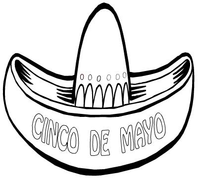 Cinco de Mayo coloring page amp book