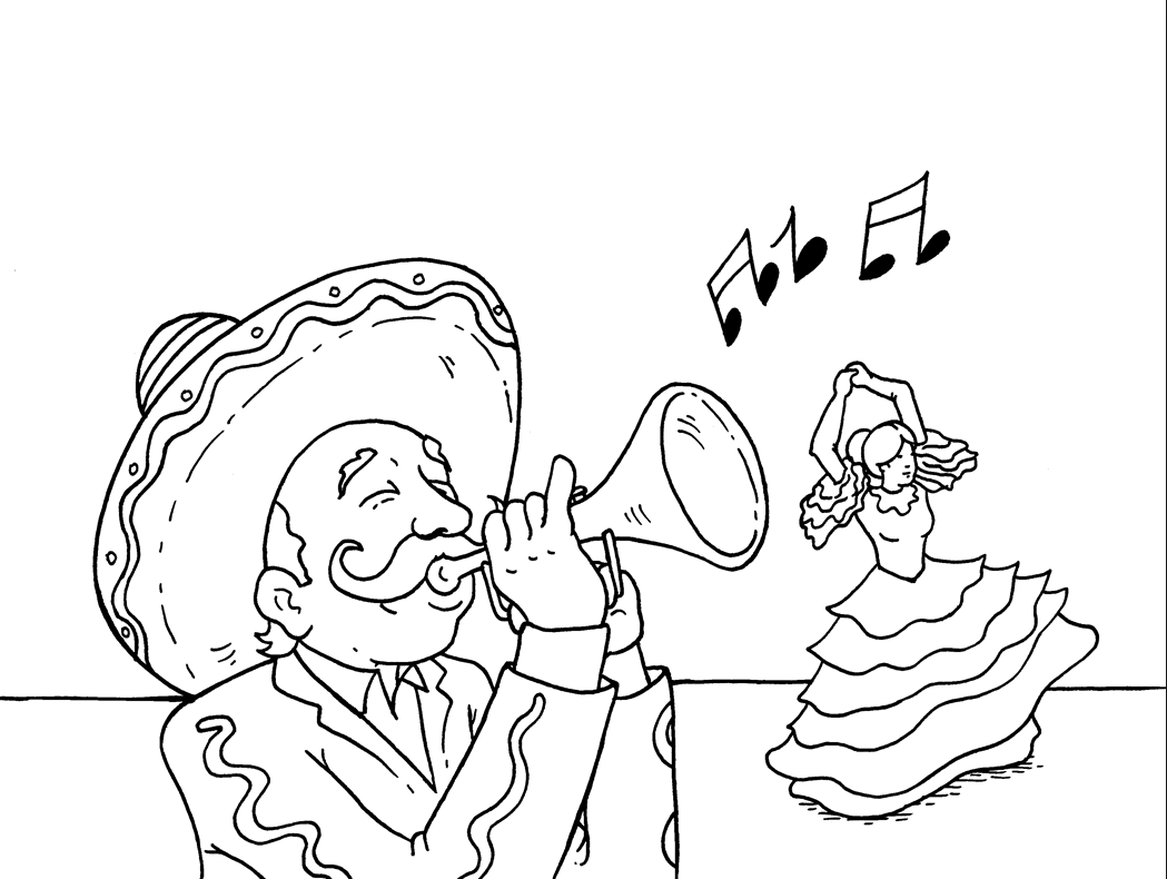 Cinco de Mayo Celebration Coloring Page coloring page & book for kids.