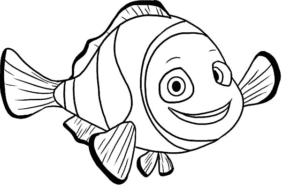 fish : clown fish coloring page, clown fish, cartoon fish