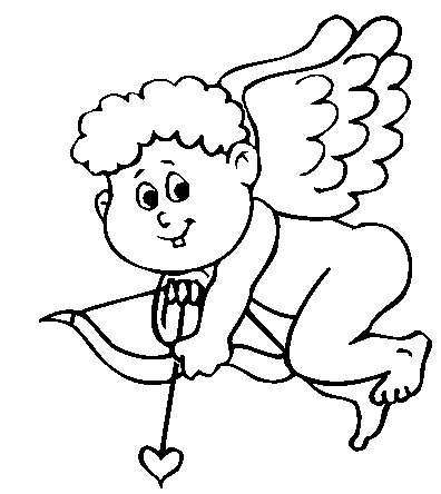 Cupid Coloring Page Coloring Page Book For Kids