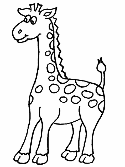 Cute Baby Giraffe Coloring Page & Coloring Book