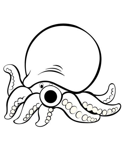 Cute Octopus Coloring Page Coloringpagebook Com