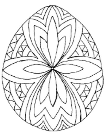 Easter Egg Designs Coloring Page Book For Kids