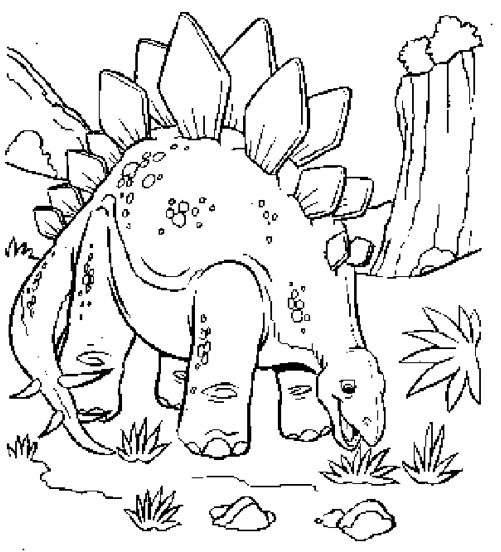 Dinosaur Coloring Page coloring page & book for kids.