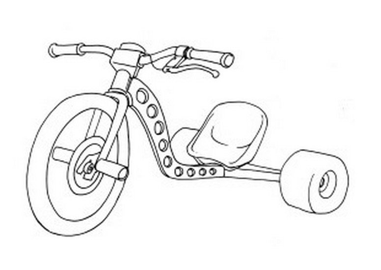 Drift Trike Coloring Page Coloring Page Amp Book For Kids