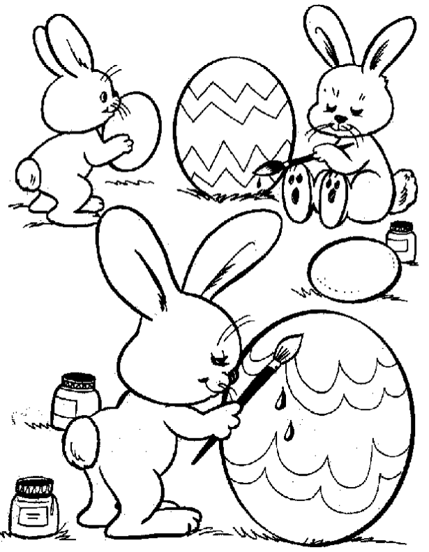 Easter Bunny Eggs Coloring Page Book For Kidsrhcoloringpagebook: Easter Bunny And Eggs Coloring Pages At Baymontmadison.com