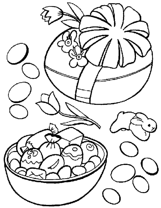 Easter Candy Coloring Page Coloring Page Book For Kids