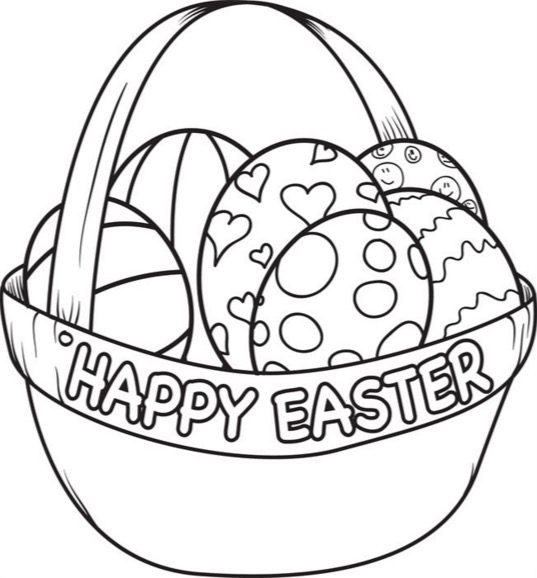 Easter Egg Basket & Coloring Book