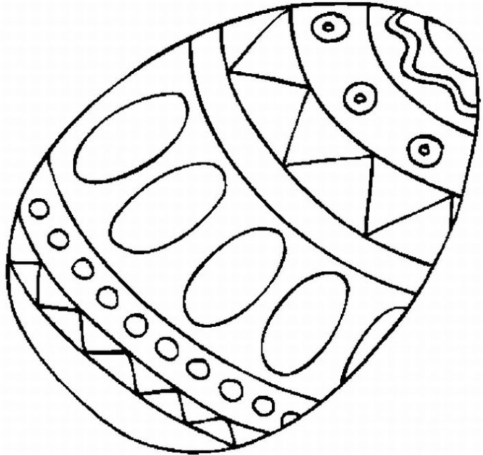Easter Egg coloring page & book for kids.