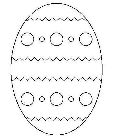 picture about Printable Easter Egg known as Easter Egg Printable coloring webpage ebook for small children.