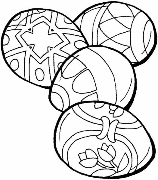 Easter Eggs Coloring Page Coloring Page Book For Kids