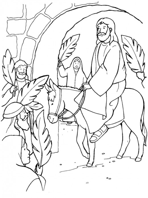 Easter Sunday Jesus Coloring Page coloring page & book for kids.