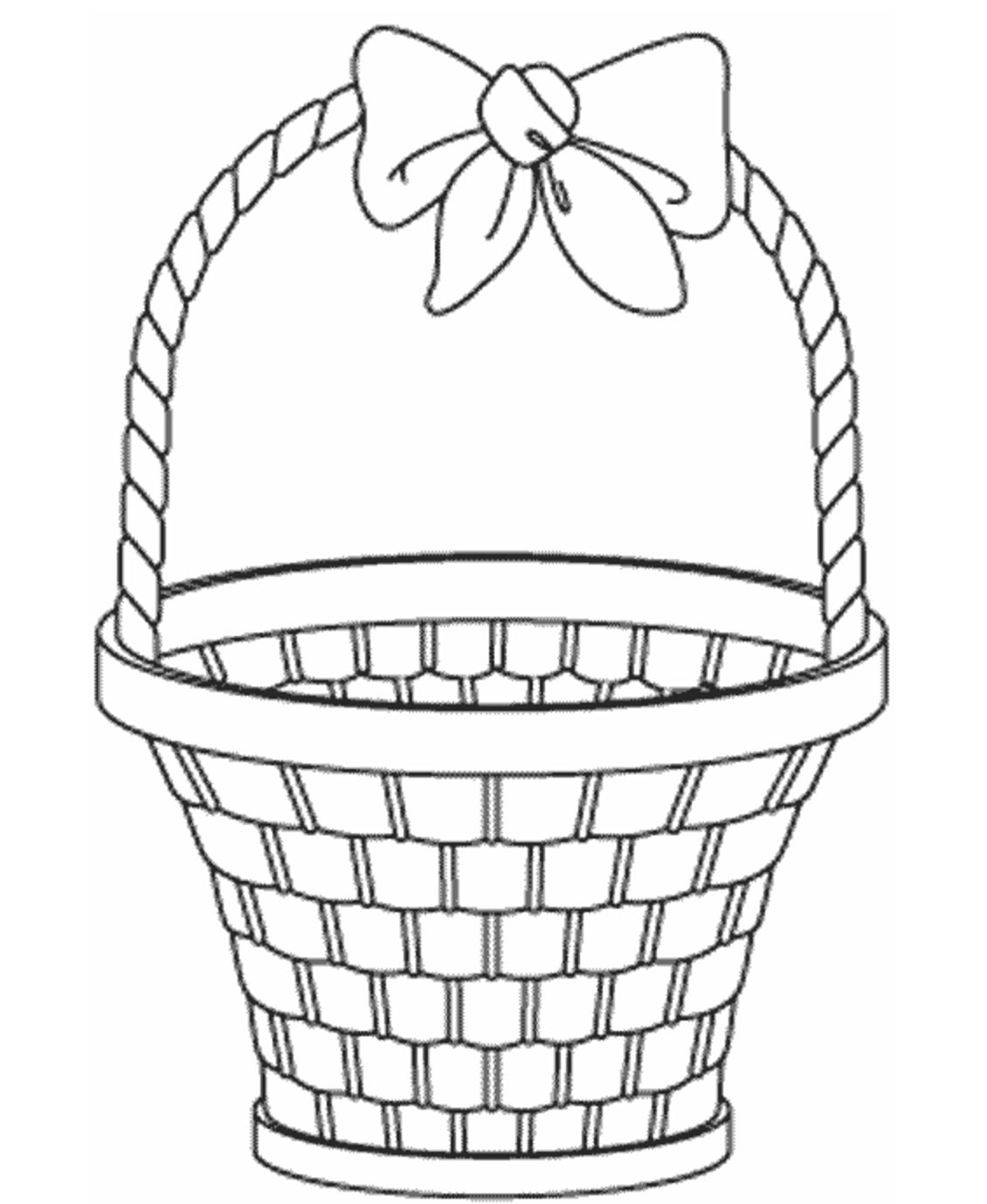 Empty Easter Basket Coloring Page Book For Kids