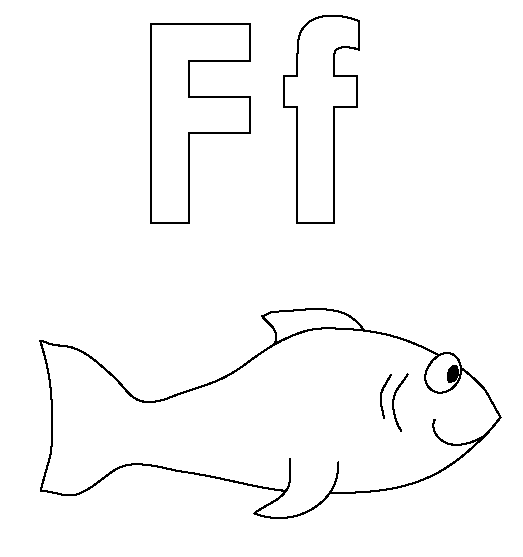 f coloring pages F Coloring Page coloring page & book for kids. f coloring pages