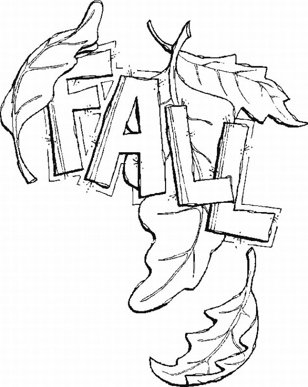 - Fall Leaves Coloring Page & Book For Kids.