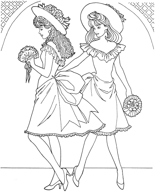 Fashion Model Coloring Page Coloring Page Book
