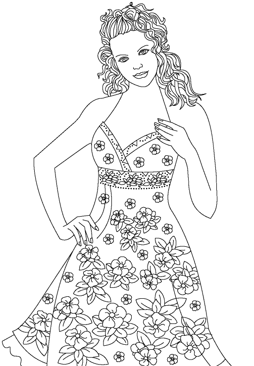 Fashion Show Coloring Page coloring page & book for kids.