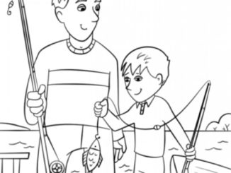 fathers day coloring page 326x245