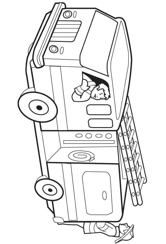 Fire Truck Coloring Page & Coloring Book