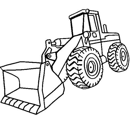 Front End Loader Coloring Page