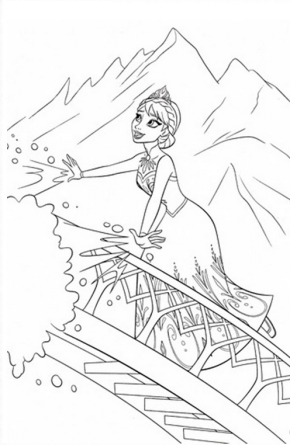 Frozen : Sven Reindeer. Frozen Anna. Frozen Coloring Page. Frozen.