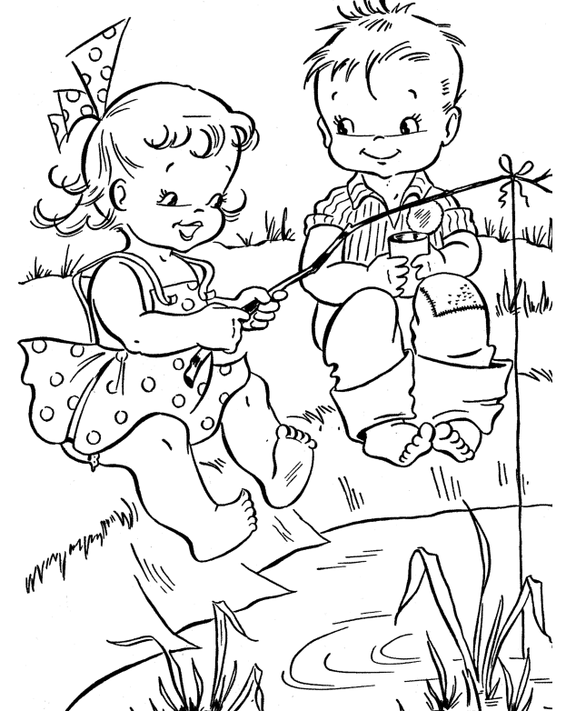 Fun Summer Coloring Page Coloring Page Book For Kids