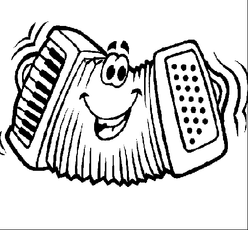 Funny Accordion Coloring Page Coloring Page Book For Kids