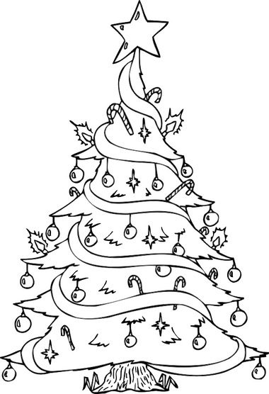 Funny Christmas Tree Coloring Page Coloring Page Book For Kids