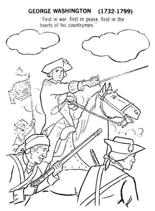 George Washington Coloring Page2 Coloring Page Book For Kids