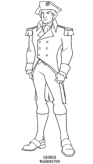 George Washington Coloring Page Book For Kids