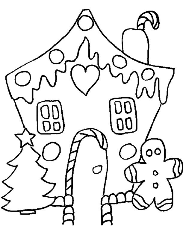 - Gingerbread House Coloring Page & Book For Kids.