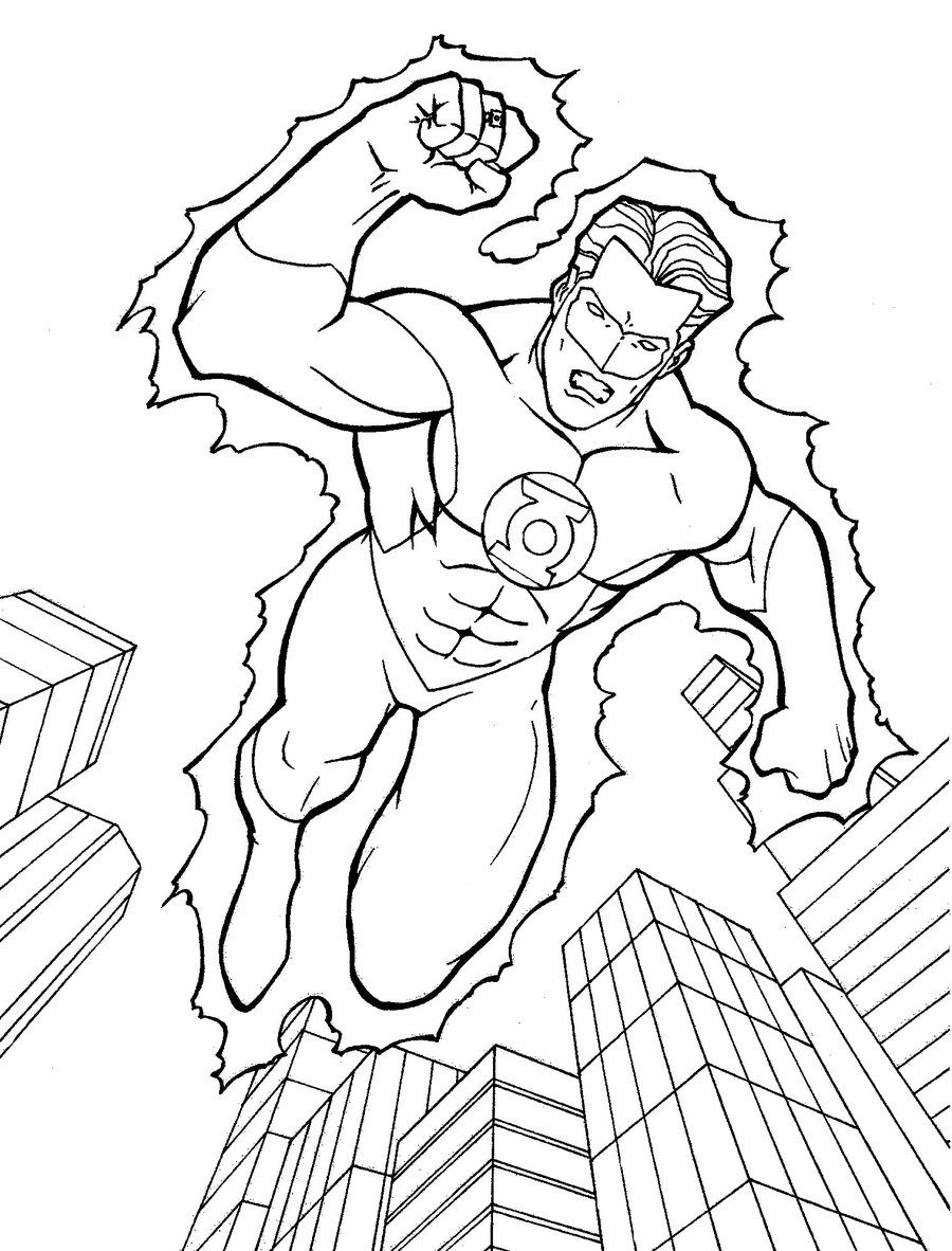 green lantern coloring pages Green Lantern Coloring Page coloring page & book for kids. green lantern coloring pages