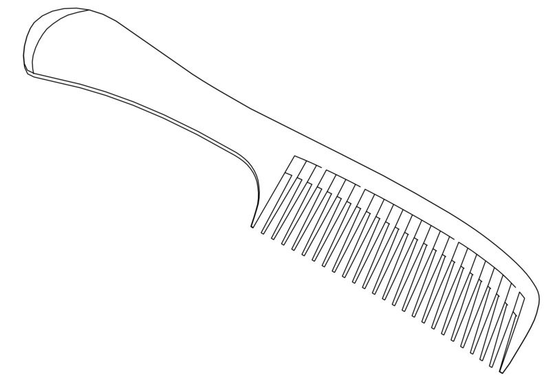 Hair Comb Coloring Page coloring