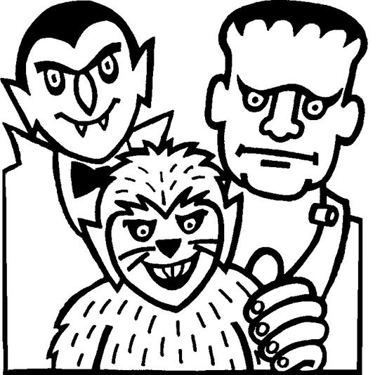 Halloween Monsters Coloring Page Coloring Page Book For Kids