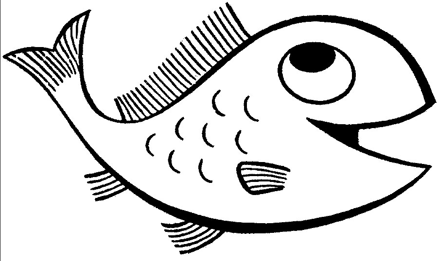 Happy Fish Coloring Page & Coloring Book