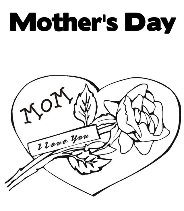 Happy Mother S Day Coloring Page Coloring Page Book For Kids