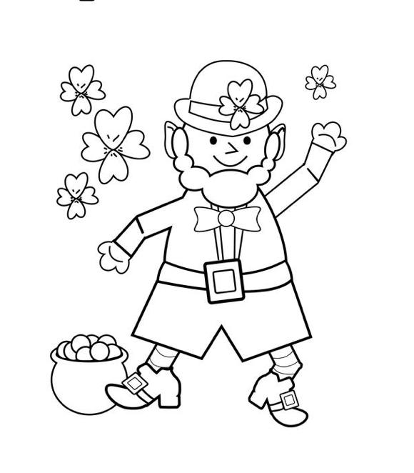 Happy St Patrick\'s Day Coloring Page - Coloringpagebook.com