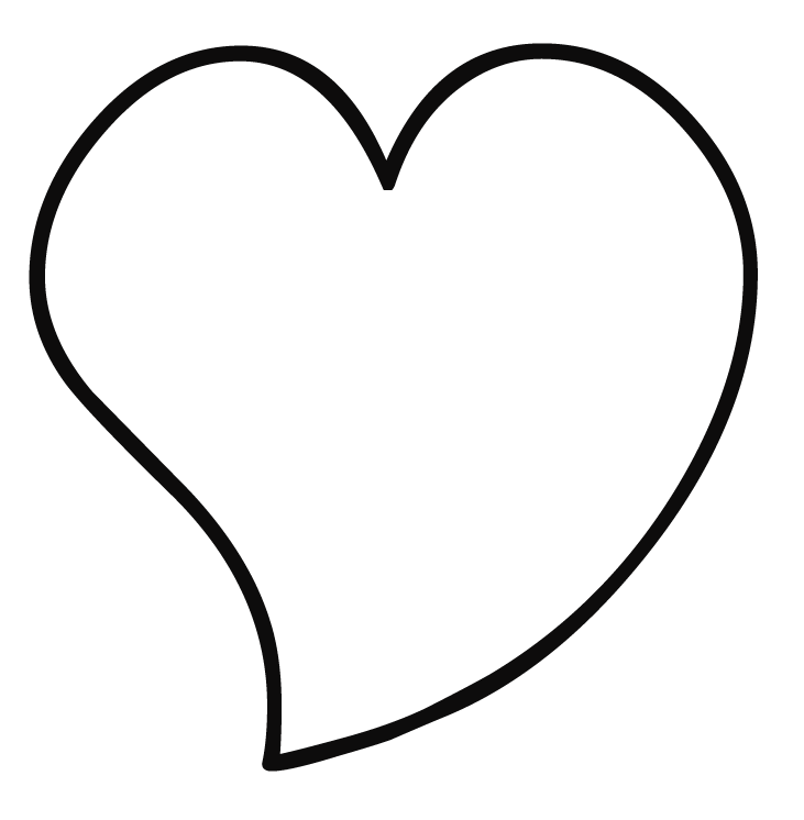 Heart Coloring Page Coloring Page & Book For Kids