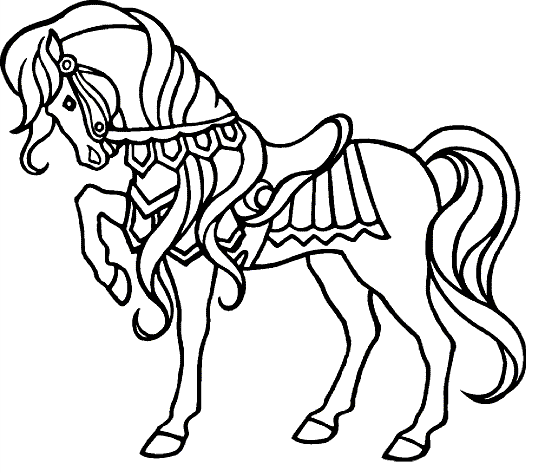 Horse Show Coloring Page Coloring Page Book For Kids